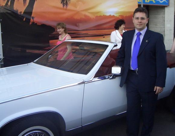 Костя и белый автомобиль:-) и Банкет Орифлэйм