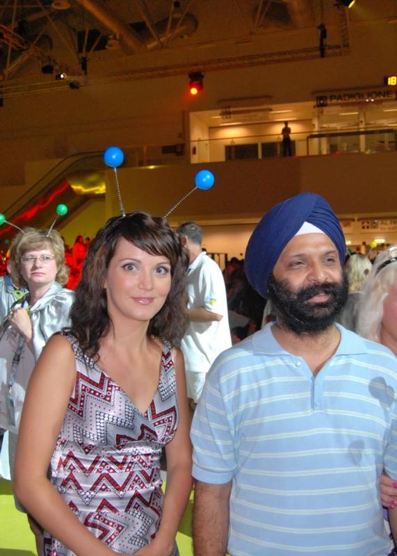 Катя с Лидером Орифлэйм из Индии на Гала ужине