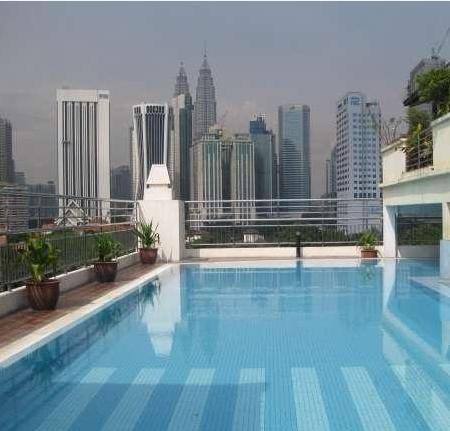 Бассейн на крыше Виллы Резиденс :( Бассейн на крыше отеля D-Villa-Residence-Kuala-Lumpur