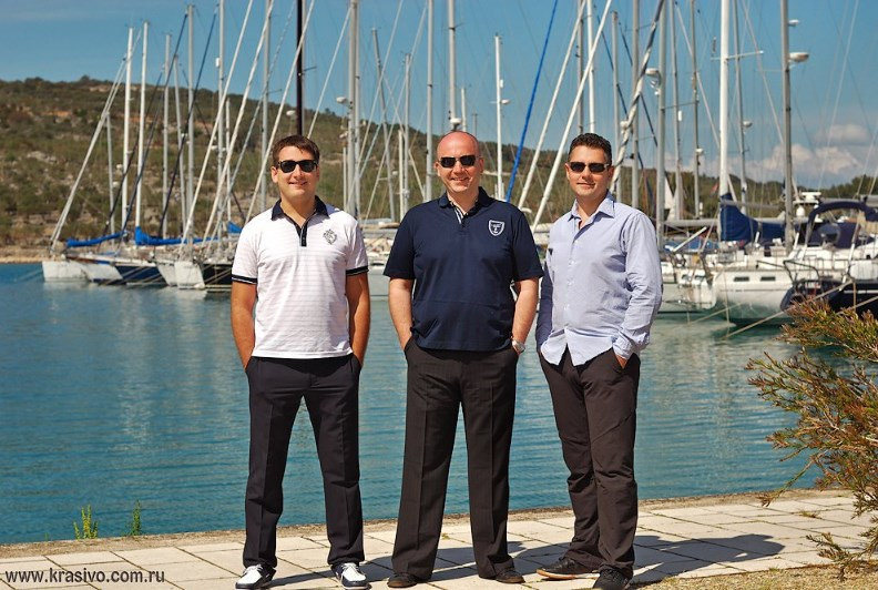 Наша команда на Яхте в Хорватии