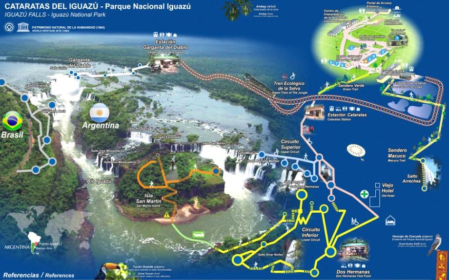 Iguazu Map Karta