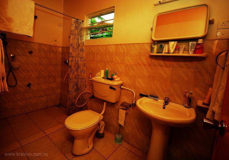 Туалетная комната в гесте Аруналу