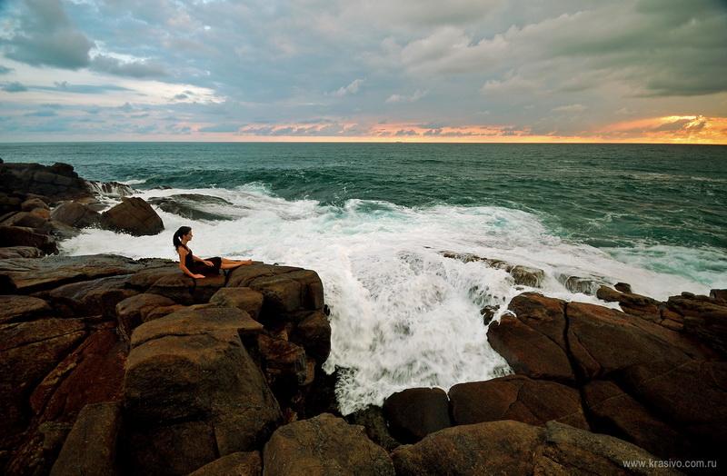 Екатерина Исаева на берегу на Шри-Ланке, Мирисса